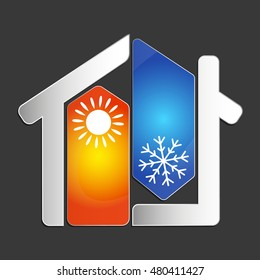 Air conditioning at home for business vector