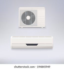 Air conditioning system, vector icons for your design and presentations.