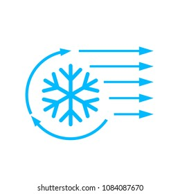 Air conditioning vector icon isolated on white background