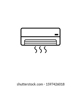 Air conditioning vector icon on eps 10 with a white background