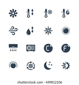 Air conditioning vector icon set