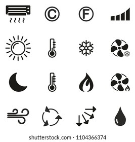 Air Conditioning or Air Ventilation Icons