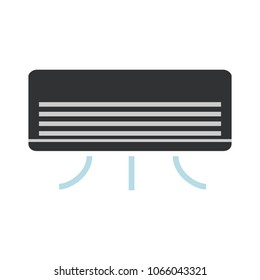 air cooler icon, vector air conditioner illustration isolated