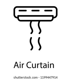 Air cooling system or air conditioner icon vector