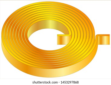 Air core flat spiral coil inductor