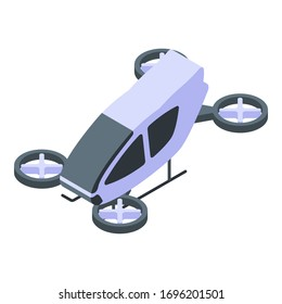 Air drone taxi icon. Isometric of air drone taxi vector icon for web design isolated on white background