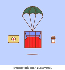 Air drop supply icon for survival in pubg game