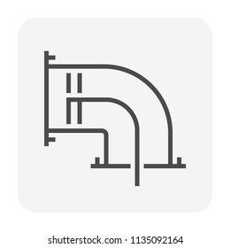 Air duct cleaning icon, 64x64 perfect pixel and editable stroke.