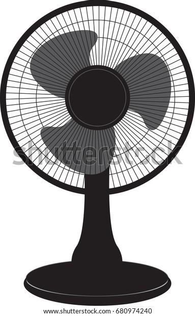 Air Fan Standing Room Vector Illustration Stock Vector