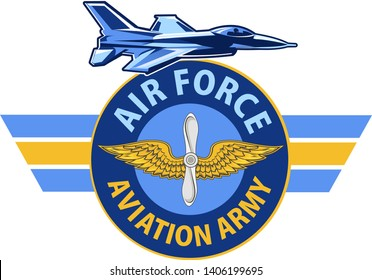 Air Force. Aviation Army. Eagle fighter jet.