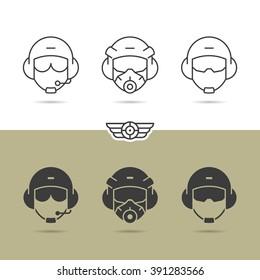 Air force helmet icons.
