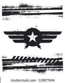 air force shield with grunge background