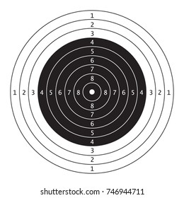 Air gun competition and practciing target.