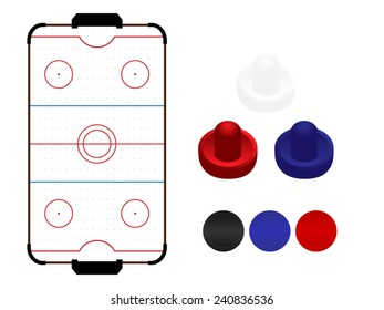 Air Hockey Table with Mallets and Pucks