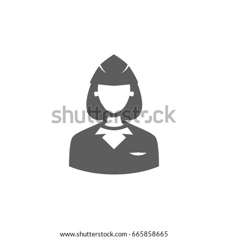 Air Hostess Icon Trendy Flat Style Stock Vector Royalty Free