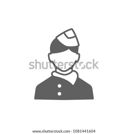 Air Hostess Icon Vector Symbol Your Stock Vector Royalty Free