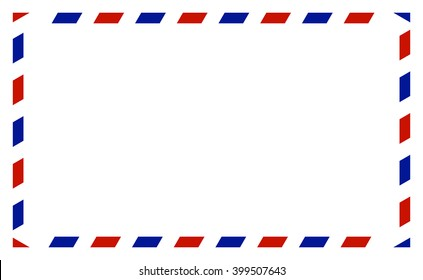 Air mail envelope, isolated on white background, vector illustration.