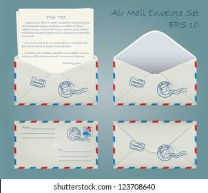 Air mail envelope set
