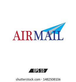 Air mail linear icon. Air mail logo concept on white background. Suitable for use on web apps, mobile apps, print media.