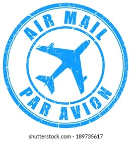 Air mail stamp