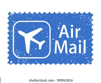 Air mail stamp vector