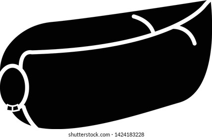 air mattress icon, vector illustration