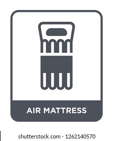 air mattress icon vector on white background, air mattress trendy filled icons from Summer collection, air mattress simple element illustration