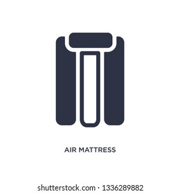 air mattress isolated icon. Simple element illustration from summer concept. air mattress editable logo symbol design on white background. Can be use for web and mobile.