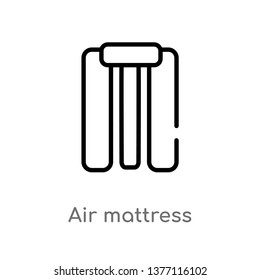 air mattress vector line icon. Simple element illustration. air mattress outline icon from summer concept. Can be used for web and mobile