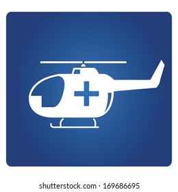 air medical service, medical helicopter sign