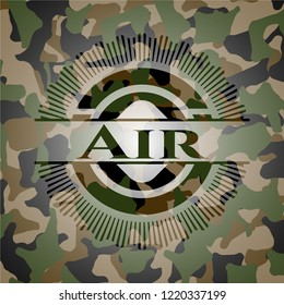 Air on camouflaged pattern