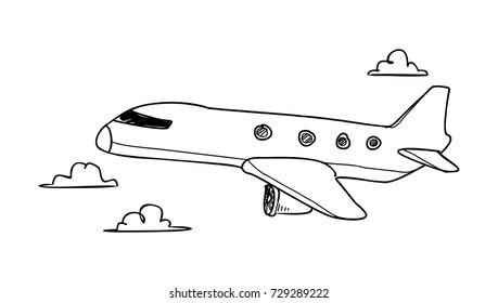air plane doodle