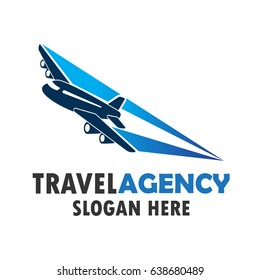 air plane logo, travel world logo with text space for your slogan / tag line, vector illustration