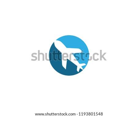 air plane logo vector template stock vector royalty free