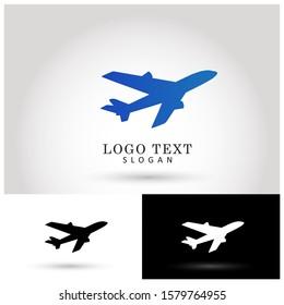 Air Plane & Travel Logo. Symbol & Icon Vector Template.