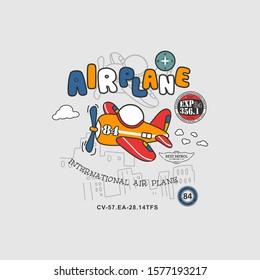 air plane vector, aeroplane, design, kid, t shirt,