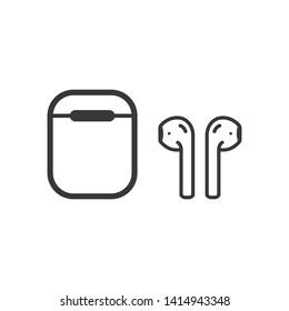 Air pods icon. Wireless earphones symbol modern simple vector icon