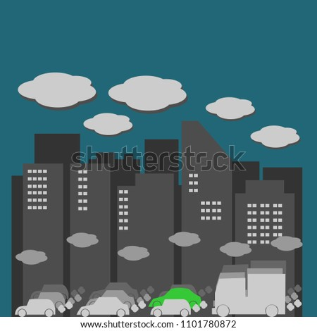 9478ee4f60 Royalty-free stock vector images ID  1101780872. air pollution and traffic  jam in the big polluted city - Vector