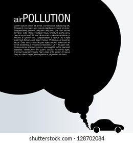 Air Pollution Vector Design - Global Warming Illustration
