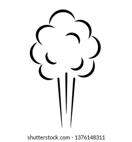Air puff pressure vector cartoon isolated on white background