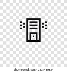 air purifier icon from air conditioner collection for mobile concept and web apps icon. Transparent outline, thin line air purifier icon for website design and mobile, app development