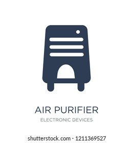 Air purifier icon. Trendy flat vector Air purifier icon on white background from Electronic devices collection, vector illustration can be use for web and mobile, eps10