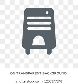 Air purifier icon. Trendy flat vector Air purifier icon on transparent background from Electronic devices collection.