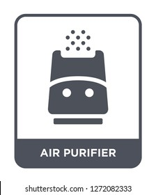 air purifier icon vector on white background, air purifier trendy filled icons from Electronic devices collection, air purifier simple element illustration