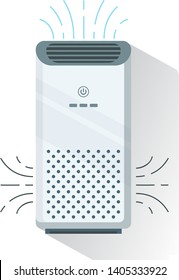 Air purifier, isolated.  Home device for air purificationфтв Filtering.