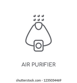 Air purifier linear icon. Modern outline Air purifier logo concept on white background from Electronic Devices collection. Suitable for use on web apps, mobile apps and print media.