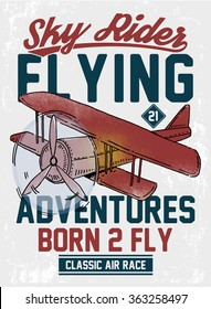 Air racing illustration, vintage artwork, vectors