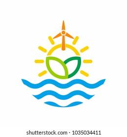 Air Sun Leaf Water Wind logo icon