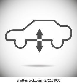 Air suspension icon car dashboard