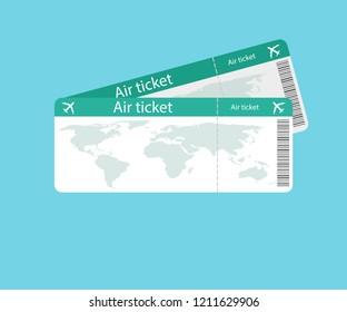 Air ticket icon. Vector illustration.